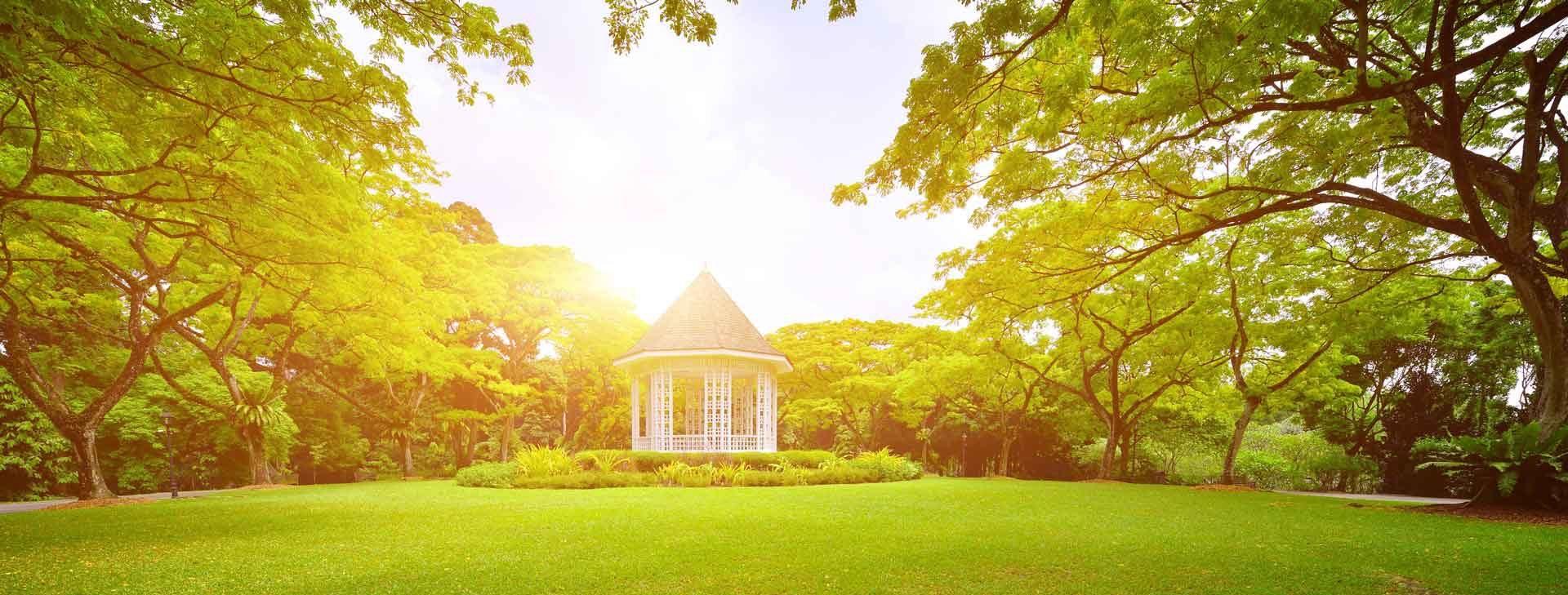 Der Garten als Oase der Ruhe und Erholung.